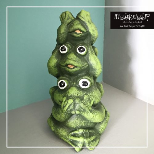 HEAR/SEE/SPEAK NO EVIL FROG TOWER
