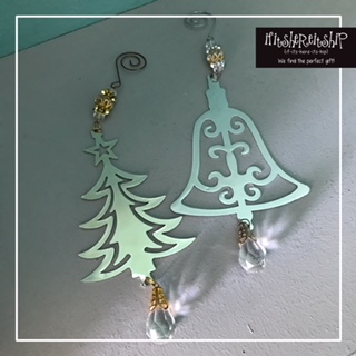 VARIOUS 2D HANGING ORNAMENT WITH ACRYLIC DROP