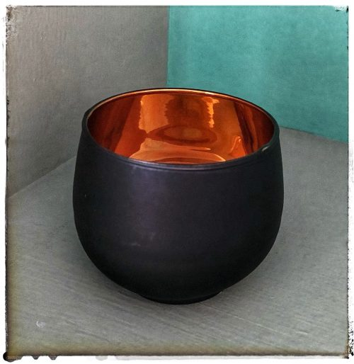 DAMASK VOTIVE BLACK/COPPER
