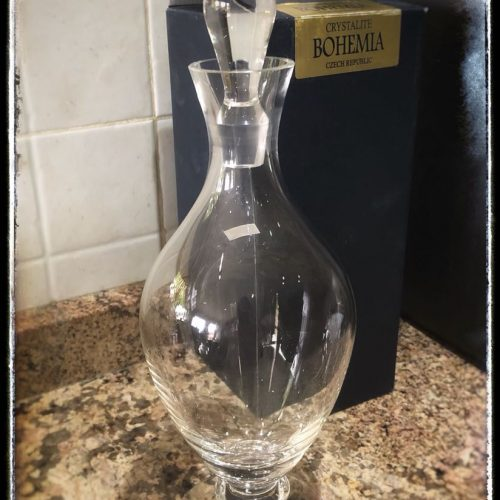 MODERN CRYSTAL DECANTER
