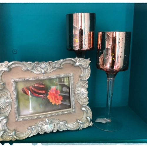 ROSE GOLD CANDLE HOLDER LRG